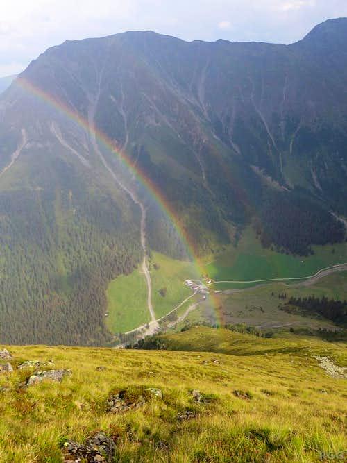 Rainbow over the Gleirschtal