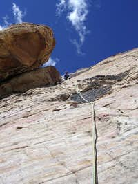 Mark at the second belay on...