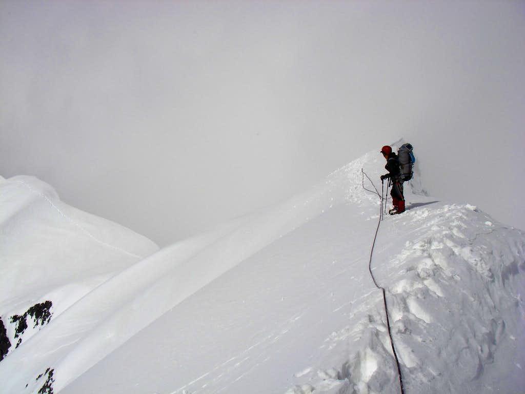On the ridge, Lenin 2017 Traverse
