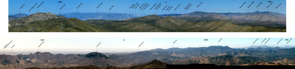Labeled N and S Quadrants from Butterbredt Peak