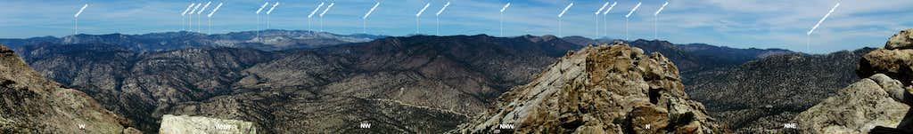 Labeled NW 130 Deg. from Lamont Peak