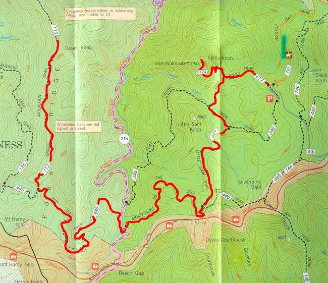 Map of the route I took to...