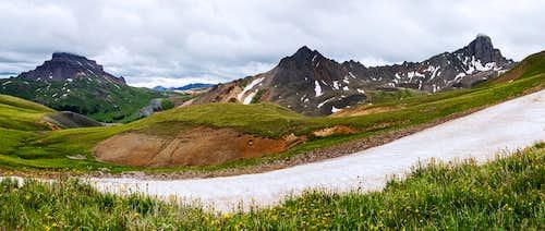 Uncompahgre, Matterhorn and Wetterhorn Peak Panorama