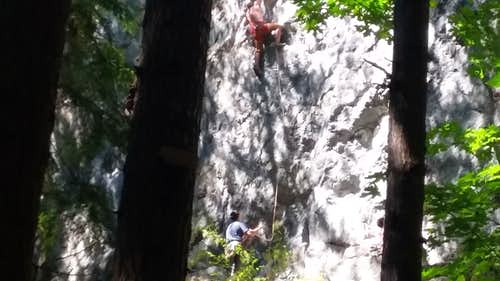 Rock Climbers on Little Si