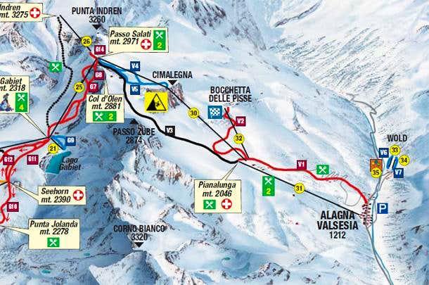 Alagna Valsesia skilifts