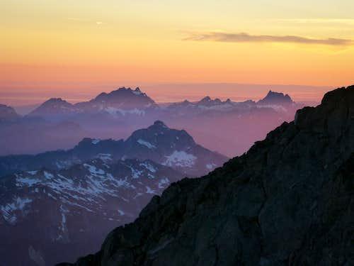 Sunset from Glacier Peak Summit - West
