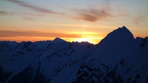 Twilight over Eagle Peak