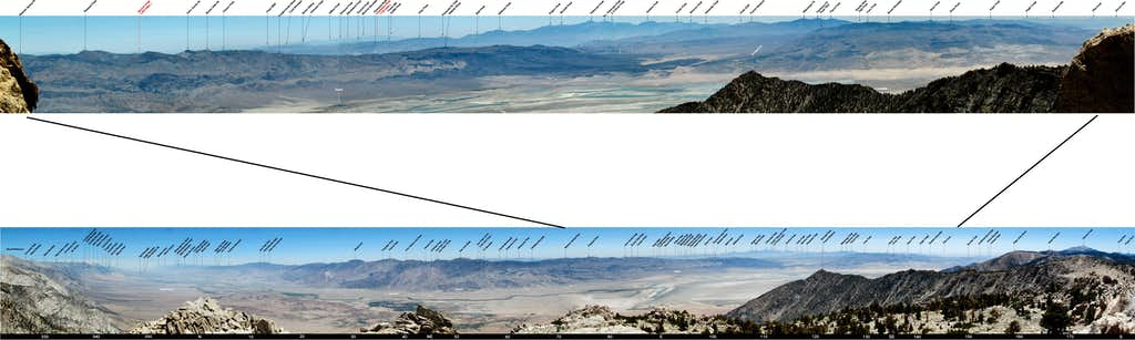 Labeled Eastern Panoramas from Owens Point