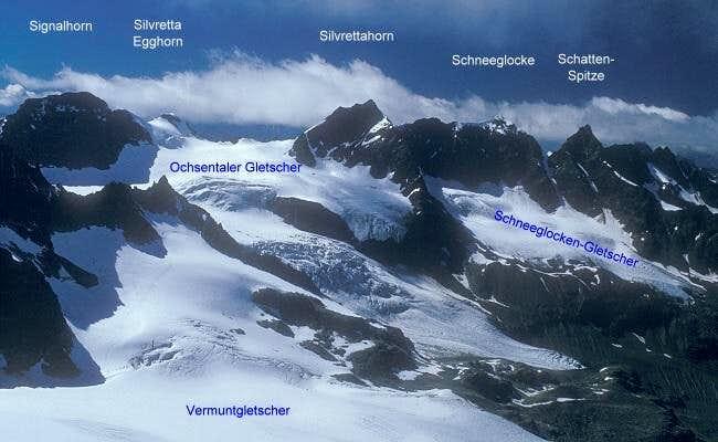 area of Silvrettahorn seen...