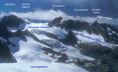 area of Silvrettahorn seen...