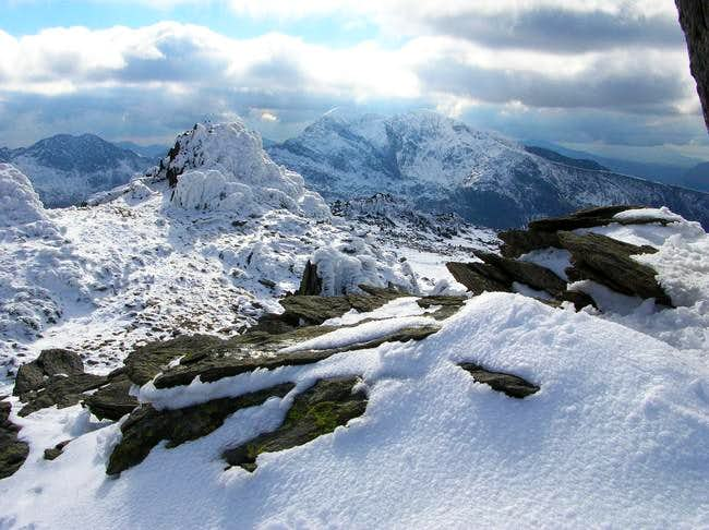 Snowdon in the distance -...