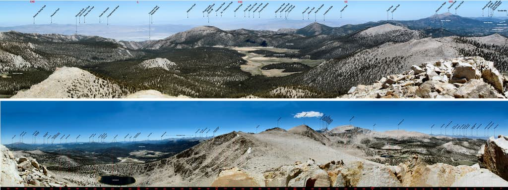 Labeled Panoramas from Trailmaster Peak