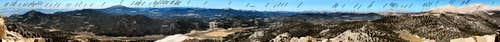 Labeled 250 Deg. Panorama from Trail Peak