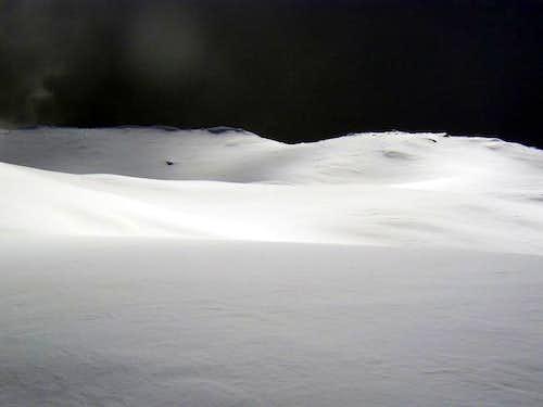 Strange snow field...