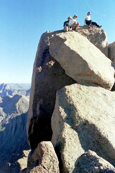 The summit boulder of...