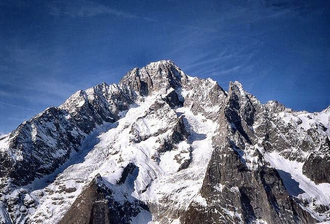 The south side of Mont Blanc.