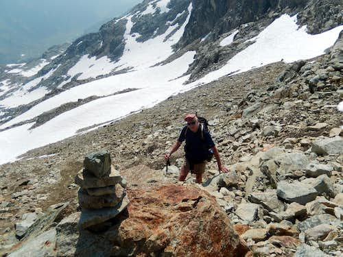 Arriving at SW Col, Brandywine Mountain