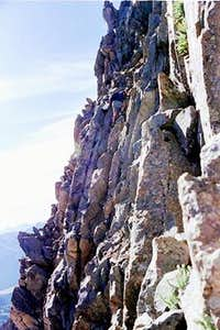 Look hard for climber on...