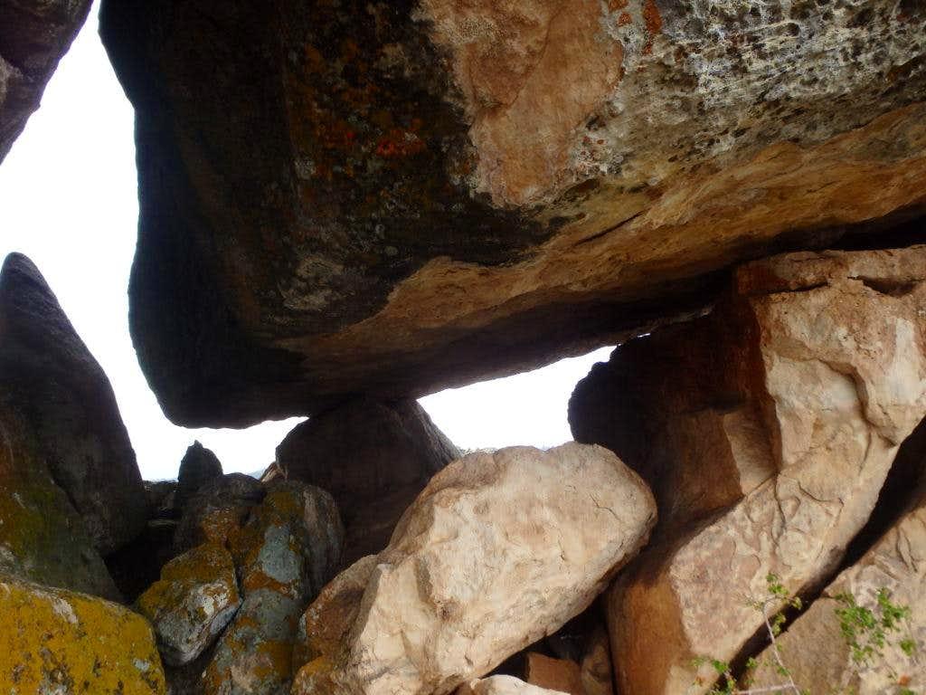 Boulders along the ridgeline
