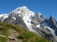 Mont Blanc seen from the track to Mont Fortin (1)