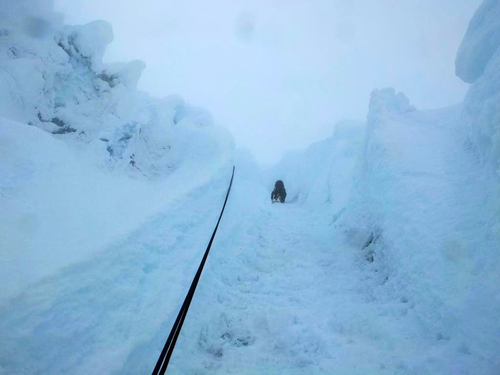 Climbing through a Whiteout on Alpamayo