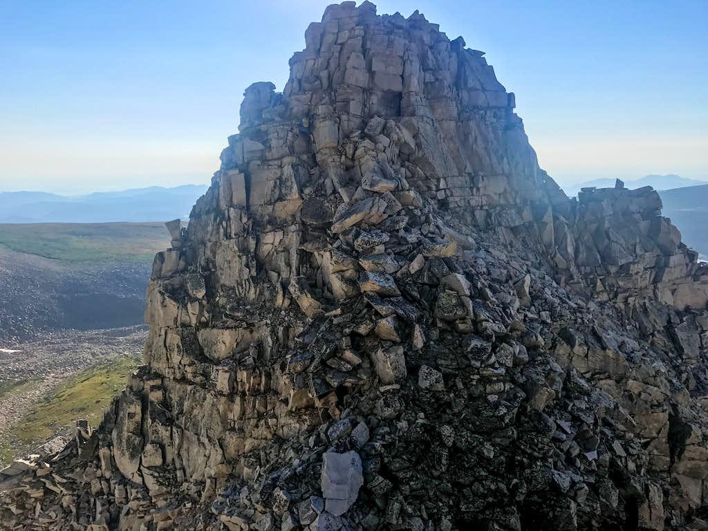 Notch on southeast Ridge Mount Audubon