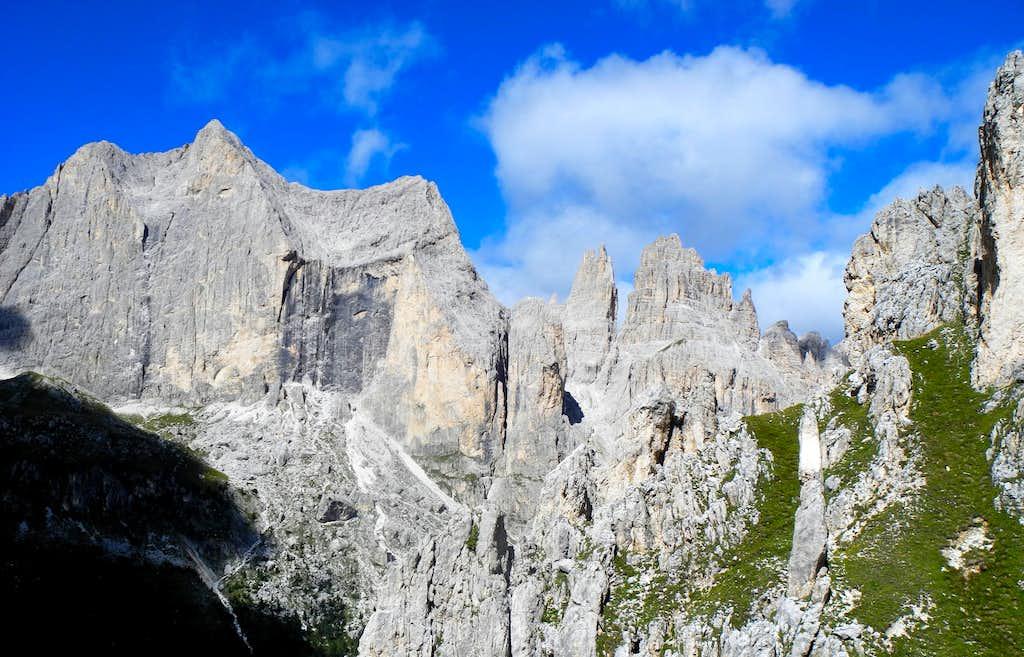 Catinaccio and Vajolet Towers from Guglia del Rifugio