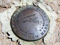 Mount Terrill survey marker
