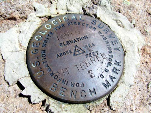 Mount Terrill survey marker