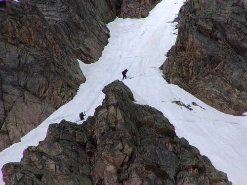 Skiing the Northeast Couloir...