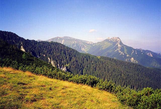 Giewont ridge from Karczmisko...