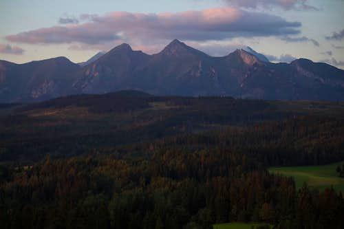 White Tatras at dawn