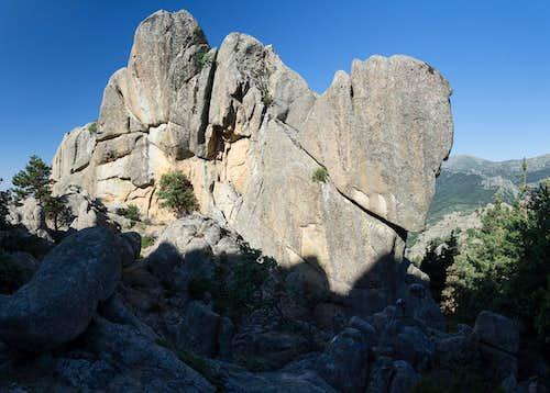 Rock formations in La Pedriza