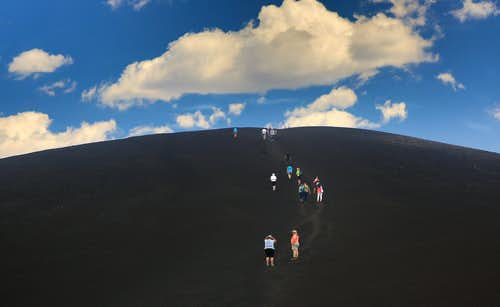 Hikers on Inferno Cone