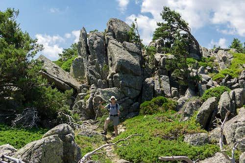 Rocky descent from Cerro de la Salamanca