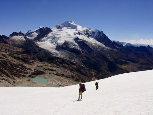 View of Huayna Potosi while...