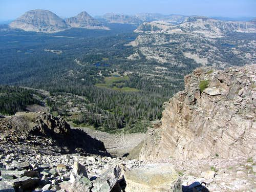 View west from top of scree chute
