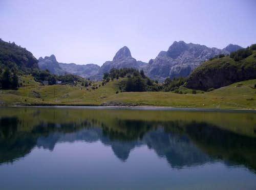 Bukumirsko lake with...