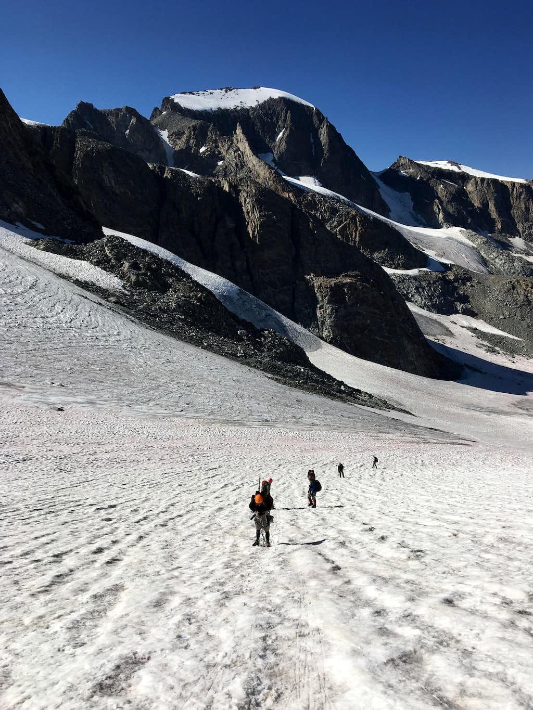 Gannett Peak from the Dinwoody Glacier
