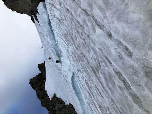 Gooseneck Glacier Bergschrund