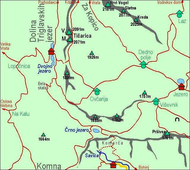 A self-made map of Ticarica...