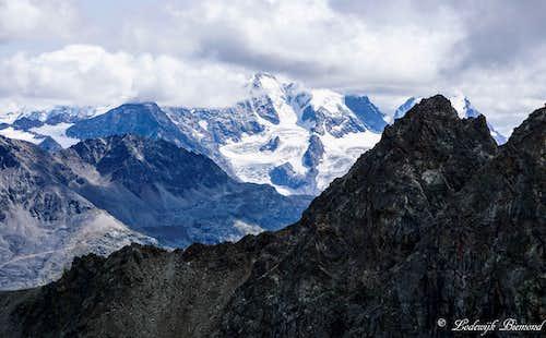 Piz Bernina (4049m) from Piz Julier