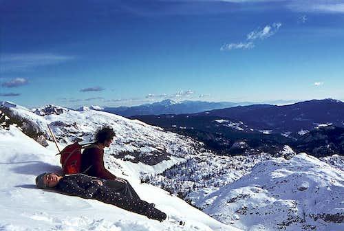 On the summit of Mala Ticarica