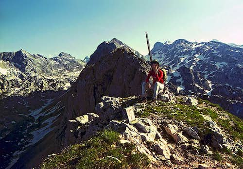 Back in 1972. On the summit...