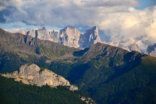 View to the Pale di San Martino range