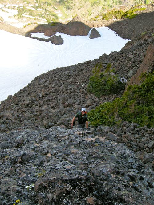 Climbing Gully to Summit Ridge