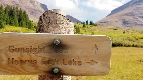 Gunsight Pass directions