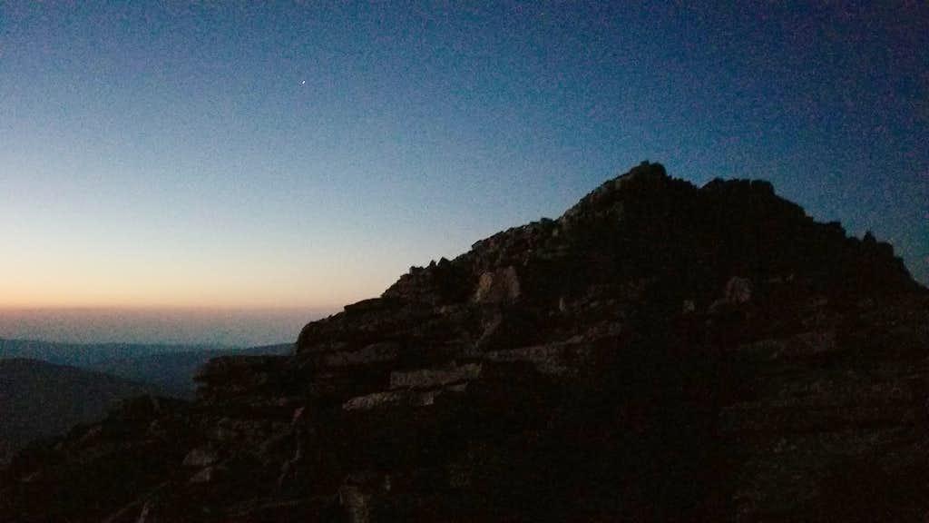 Near King's Peak on north ridge