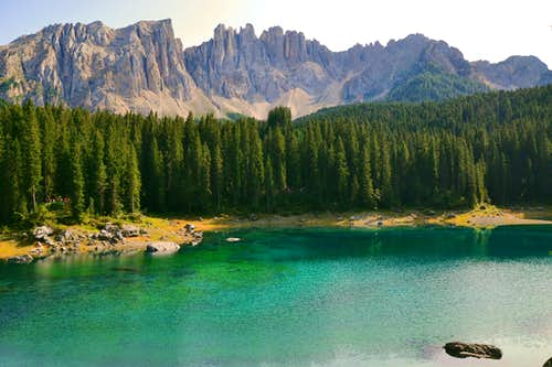 Karersee / Lago di Carezza and Latemar group