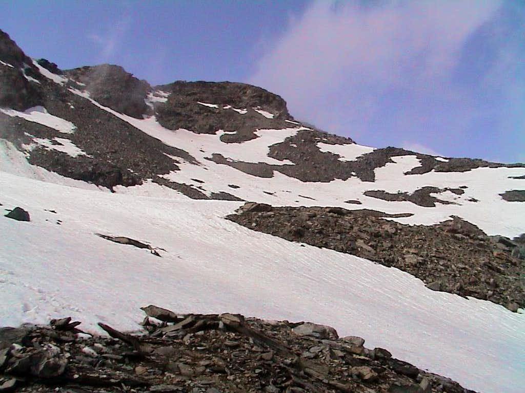 Mont Roisetta ... towards final part on South Slope 2002